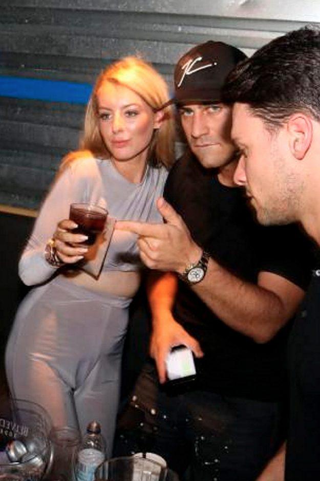 Jon clark poses with chloe crowhurst lookalike in club
