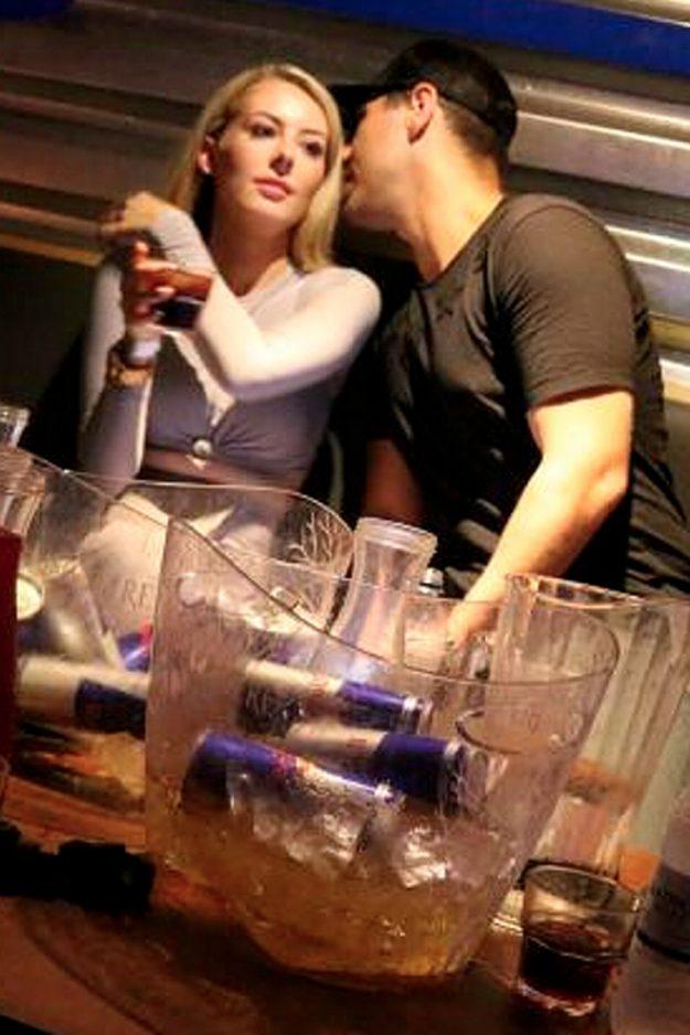 Jon Clark whispers to Chloe Crowhurst lookalike