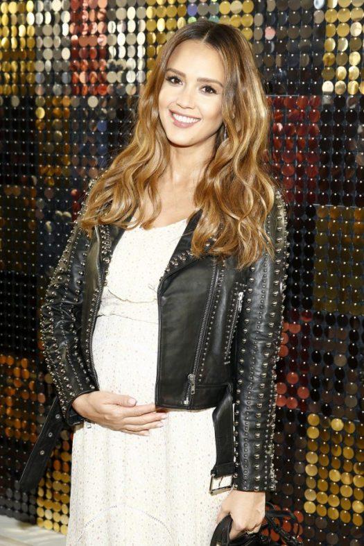 Jessica Alba attends the Rebecca Minkoff fashion show during New York Fashion