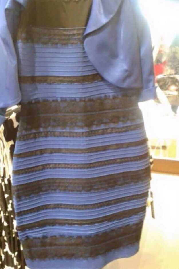 These dress was the original optical illusion that stumped the internet - blue and black or white and gold?