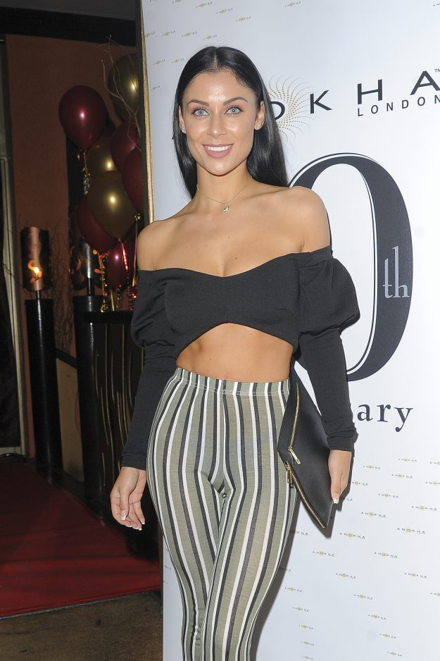 Cally Jane Beech at Anokha Restaurant 10th Anniversary party