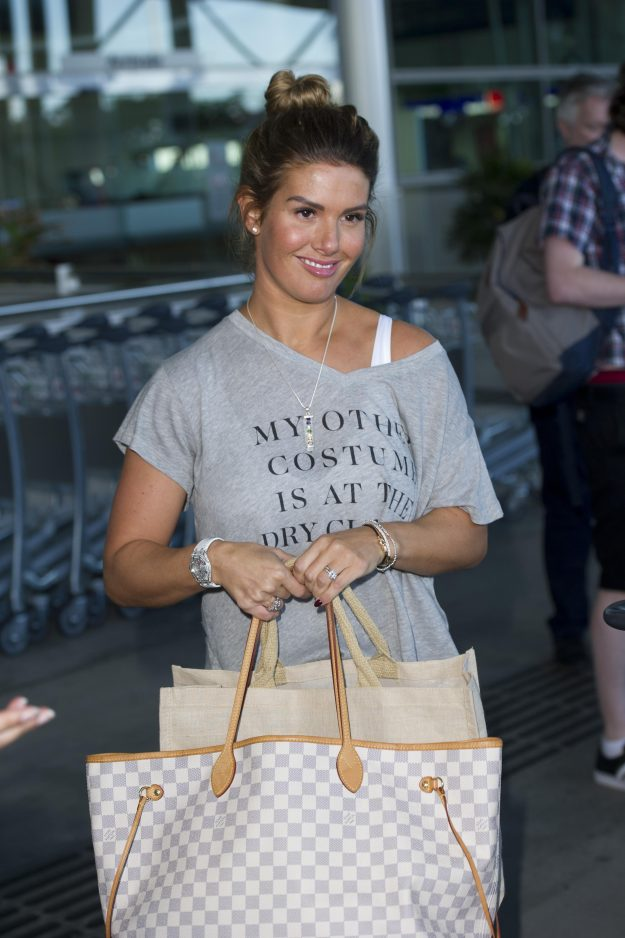 I'm a Celebrity: Rebekah Vardy has been spotted at Brisbane airport
