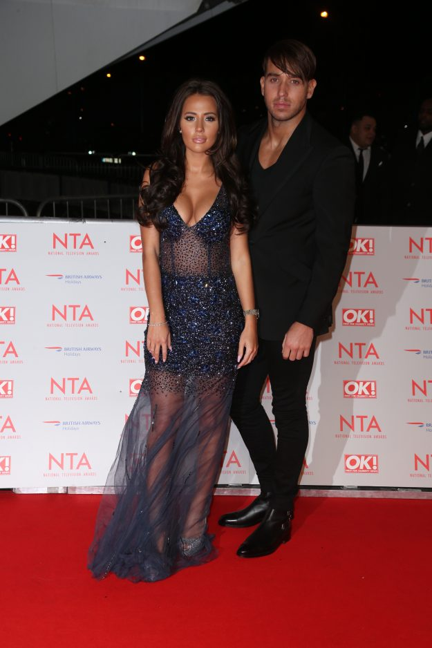 James Lock and girlfriend Yazmin Oukhellou at the NTAs