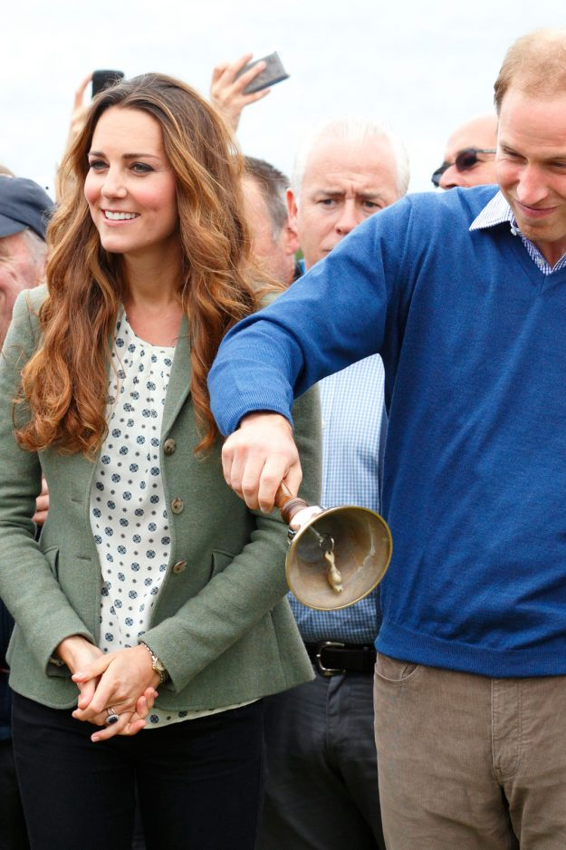 The Duke And Duchess Of Cambridge just five weeks after welcoming Prince George