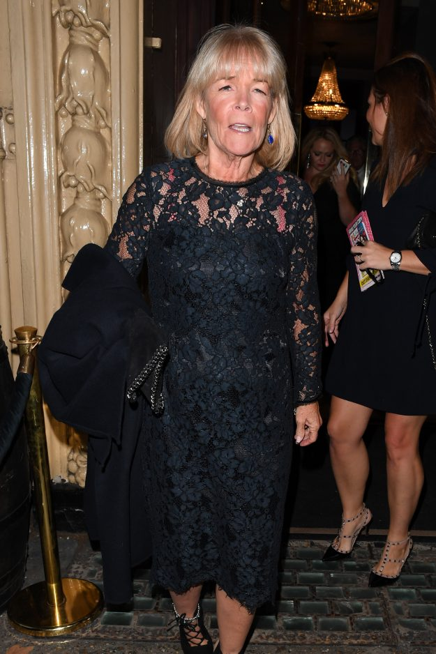 The Best Heroes departures London Pictured: Linda Robson Ref: SPL5027202 240918 NON-EXCLUSIVE Picture by: The Claytons / SplashNews.com Splash News and Pictures Los Angeles: 310-821-2666 New York: 212-619-2666 London: 0207 644 7656 Milan: +39 02 4399 8577 Sydney: +61 02 9240 7700 photodesk@splashnews.com World Rights,