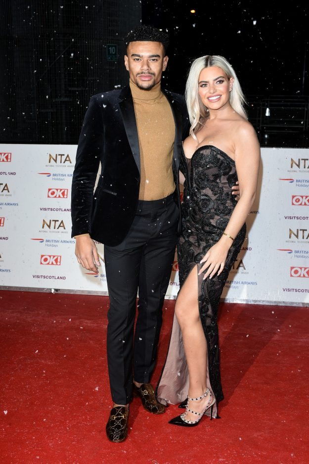 LONDON, ENGLAND - JANUARY 22: Megan Barton Hanson and Wes Nelson attend the national television awards held at the O2 arena on January 22, 2019 in London, England. (Photo by Joe Maher / WireImage)