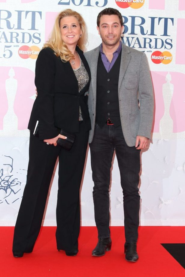 Gino and his wife Jessica at the 2015 BRIT awards
