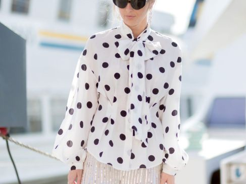 Trendy Polka Dotted Tops