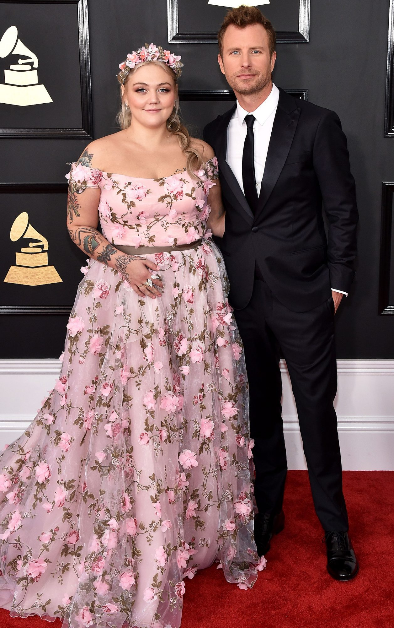 Elle King Wedding Dress : wedding, dress, Grammys, 2017:, Dierks, Bentley, Collaboration, PEOPLE.com