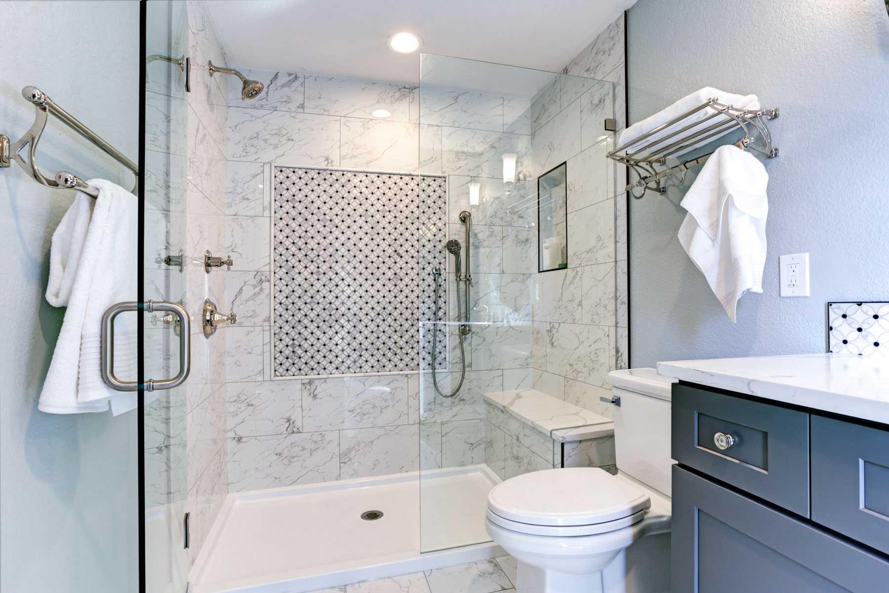 Bathroom Design Tricks For A Cleaner Looking Bathroom Real Simple