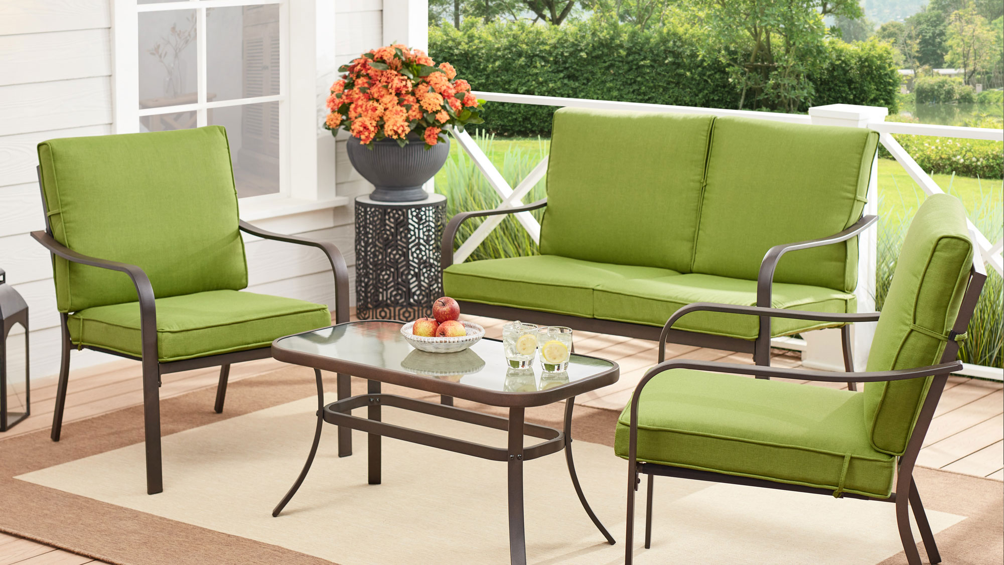 this 4 piece outdoor patio set is less