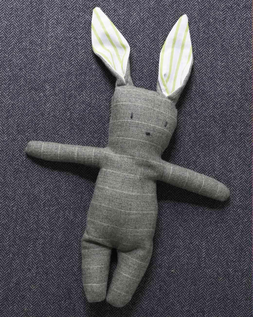 Stuffed Bunny Pattern : stuffed, bunny, pattern, Stuffed, Menswear, Bunny, Martha, Stewart