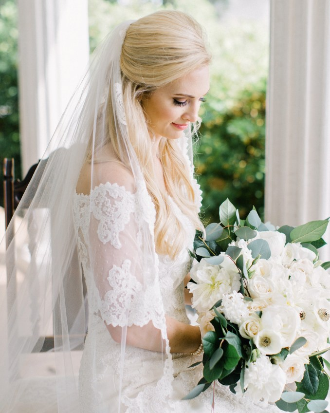half-up, half-down wedding hairstyles we love | martha
