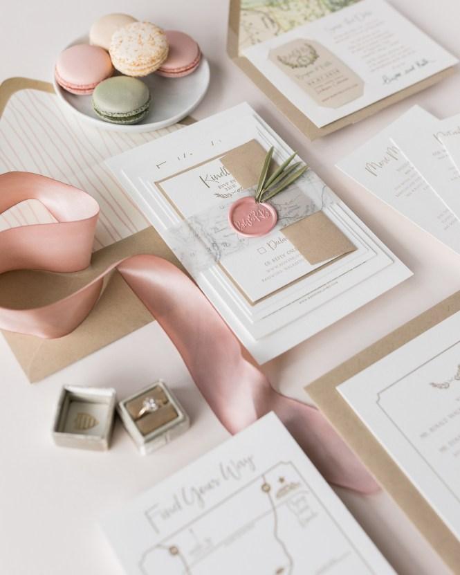Gorgeous Wedding Invitations With Wax Seals Martha
