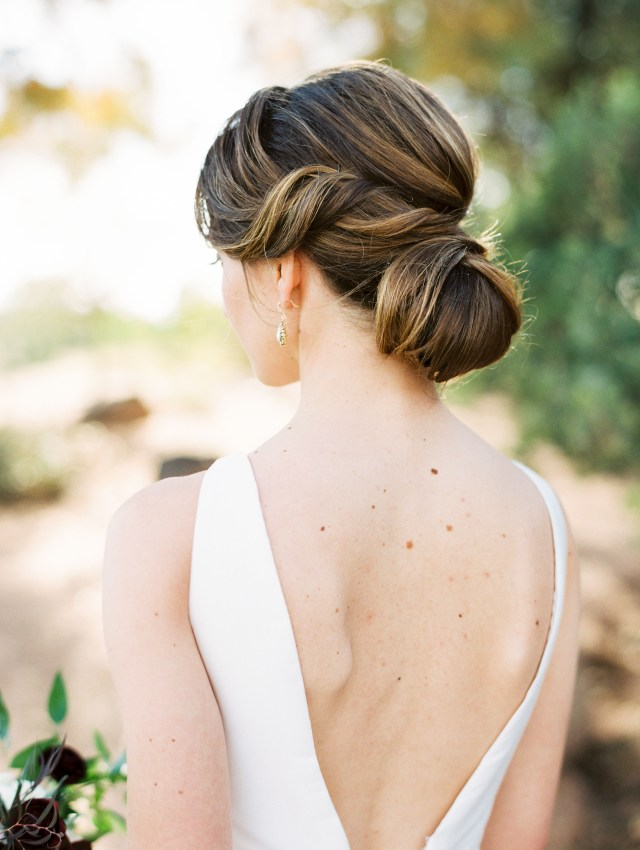 20 ways to style your hair in a low bun on your wedding day