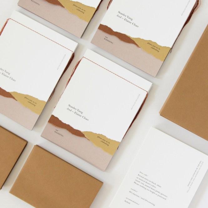 A Trend We Re Loving Booklet Wedding Invitations Martha