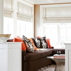 Living Room Design Ideas With Brown Leather Sofa Decorating Tips Ways To Decorate A Orange