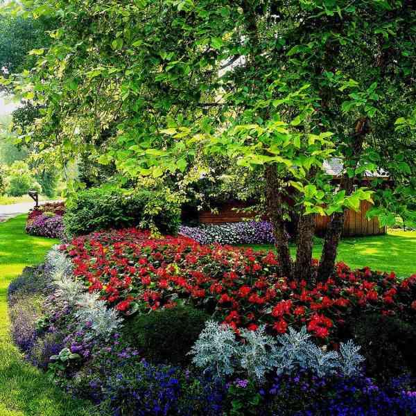 shade garden plans homes