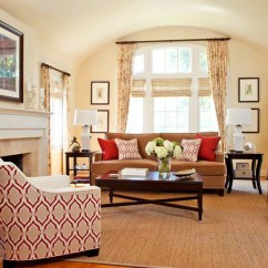 Red Couch Living Room Photos Paint Colors For With Dark Wood Trim Design Ideas A Geometric Connection