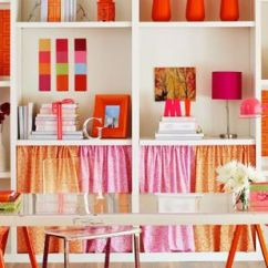 Orange Living Room Decorating Ideas A With No Fireplace Warm Color Schemes Using Red Yellow And Hues Whimsical Scheme Fuchsia Tangerine