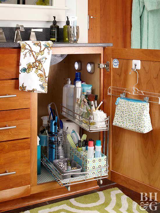 15 Ways to Organize Bathroom Cabinets  Better Homes  Gardens