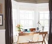 Window Treatment For A Bay Window