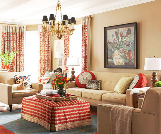 cozy living room colors movable tv stand furniture decorating with color schemes rustic ruby khaki three ways to add