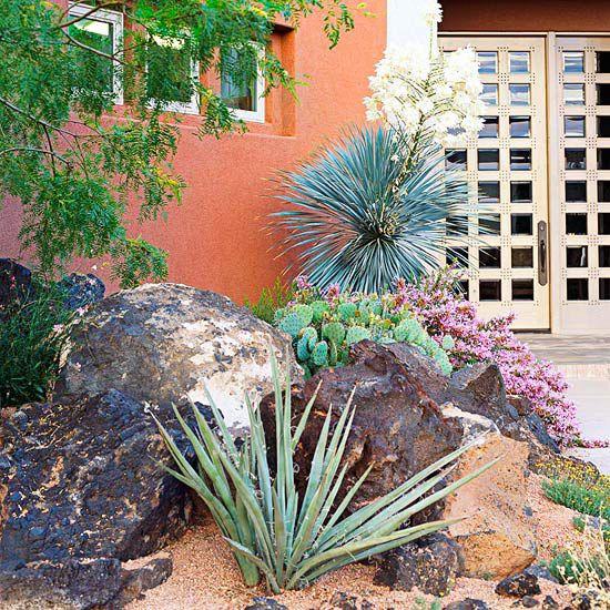 easy-care desert landscaping ideas