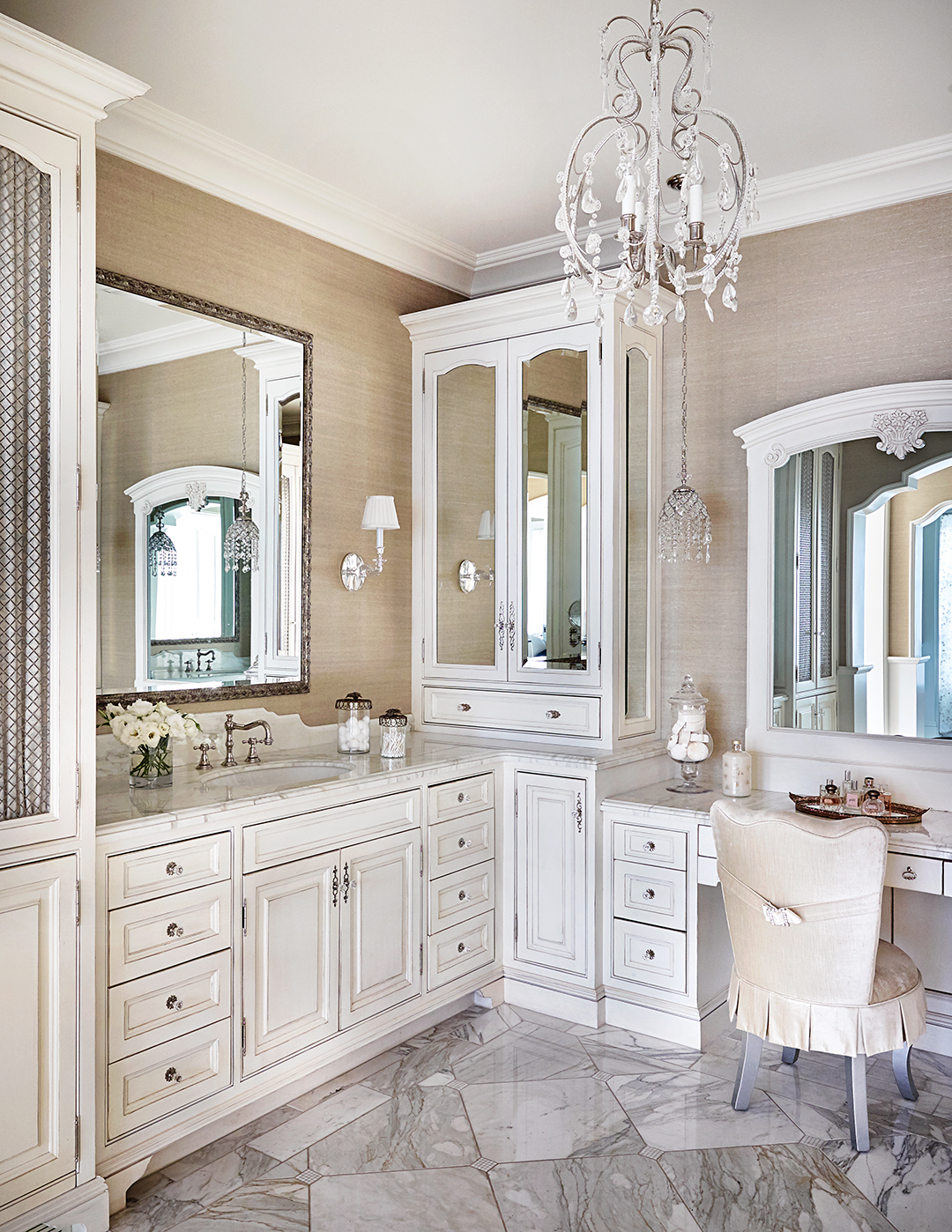 Bathroom Vanities With Sitting Area Planning A Bathroom Layout Better Homes Gardens