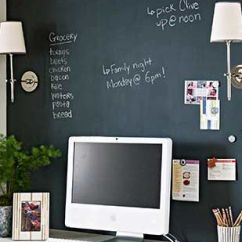 Kitchen Desk Chair On Workstation Ideas Computer With Chalkboard Wall