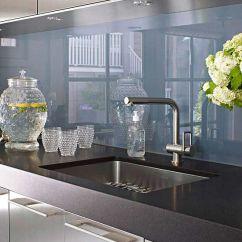 Glass Kitchen Backsplash 4 Hole Faucet Ideas