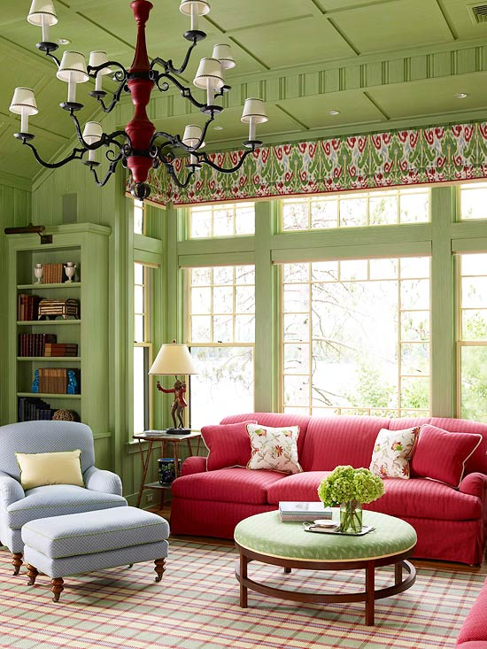wall colors for living room with green furniture modern curtain decorating ideas paint the ceiling