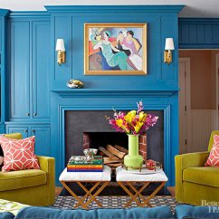 Blue Walls Living Room What Colors To Paint A Decorating With Bold