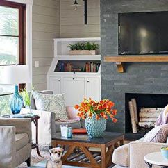 Living Room Ideas With Fireplace Long Narrow Designs And Design Photos Bhg Com Decorating Gallery
