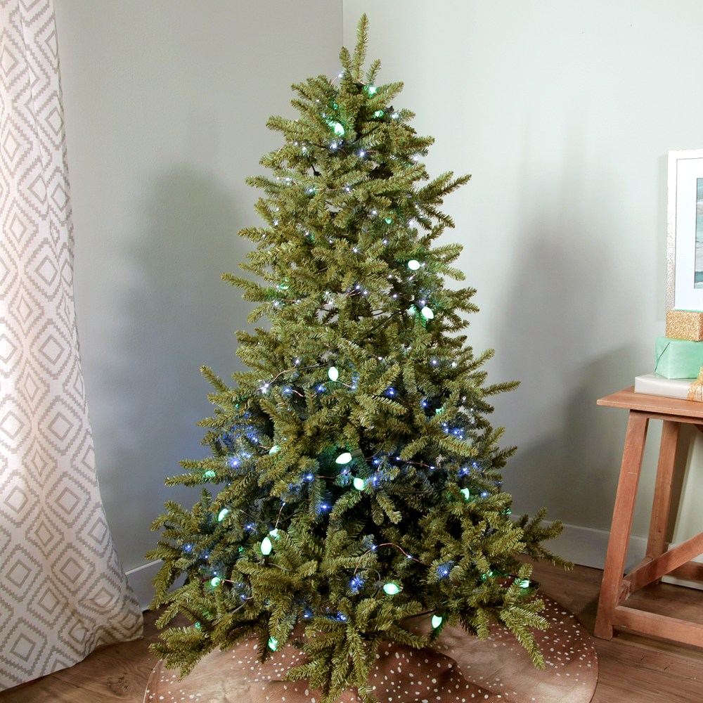 medium resolution of hanging christmas lights on tree video still