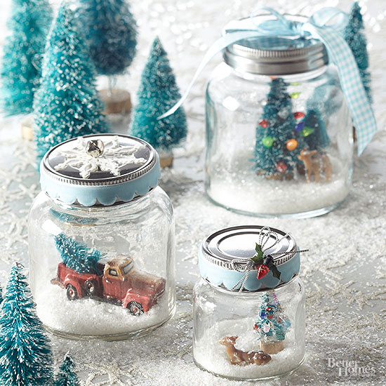 Decorate A Jar For Christmas