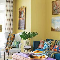 Living Room Interior Decorating Ideas Rooms With Dark Grey Feature Walls Better Homes Gardens Yellow