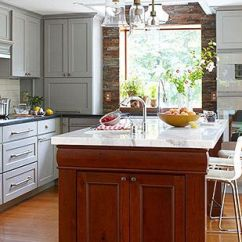 Pictures Of Kitchen Islands When Remodeling A Where To Start Contrasting Chunky Wooden Island
