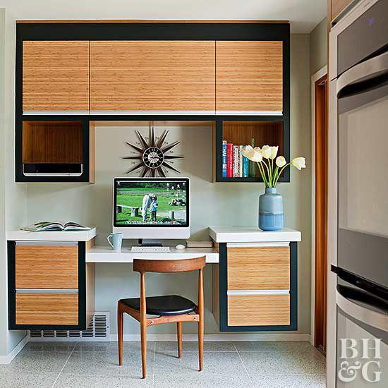 kitchen desk ideas linens workstation complement your
