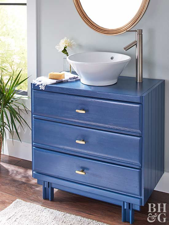 How To Turn An Old Dresser Into A Beautiful Bathroom Vanity Better Homes Gardens