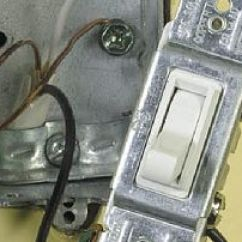 1 Way Light Switch Wiring Diagram Combination All About If Power Goes To The Fixture First And Then You Have End Line Only One Cable Enters Box Coming From