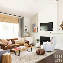 Living Room Decorating Ideas With Leather Furniture Images Of Rooms Log Burners 5 Ways To Decorate Ranch House