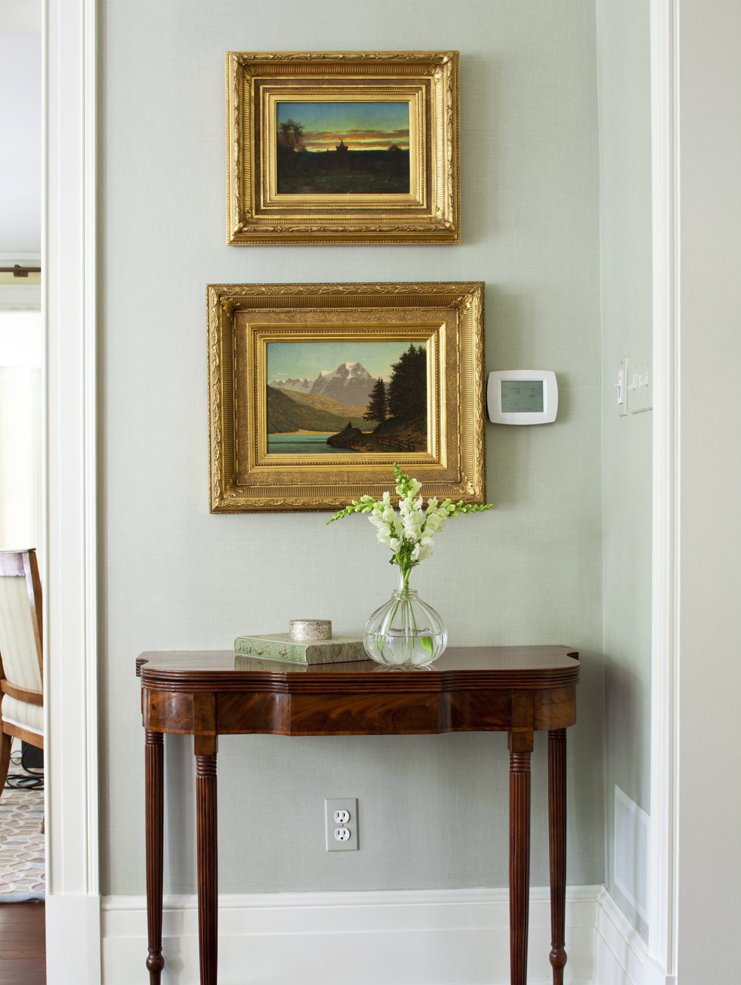 hight resolution of pictures above hallway table