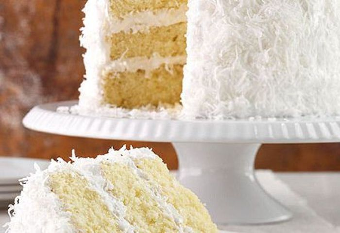 Classic Coconut Cake With Frosting Better Homes Gardens