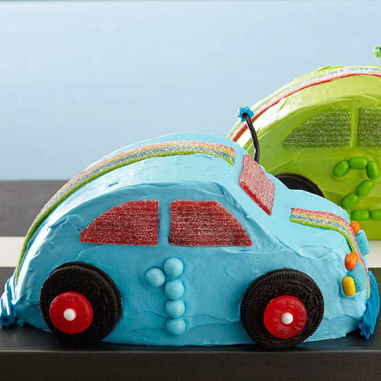 Use royal icing to cover the cake. Race Car Cakes Better Homes Gardens