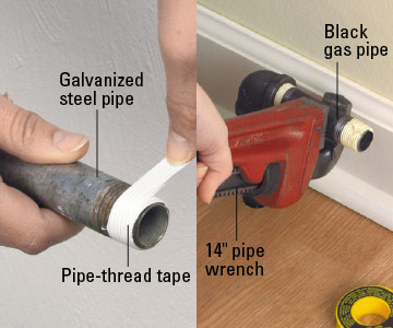 Cutting And Threading Galvanized Pipe