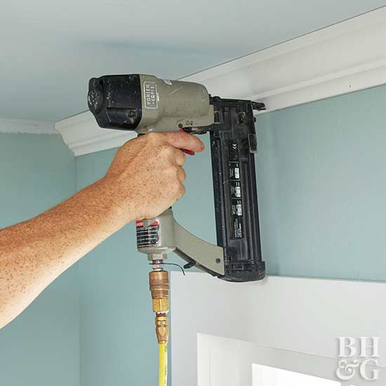How To Nail Crown Molding To Ceiling