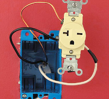 240v receptacle wiring diagram remote stop start installing a 240 volt step 6