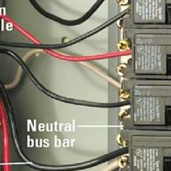 240v Receptacle Wiring Diagram 2003 Ford F350 Installing A 240 Volt At The Service Panel Shut Off Main Breaker Connect Ground Wire To Bus Bar And Neutral