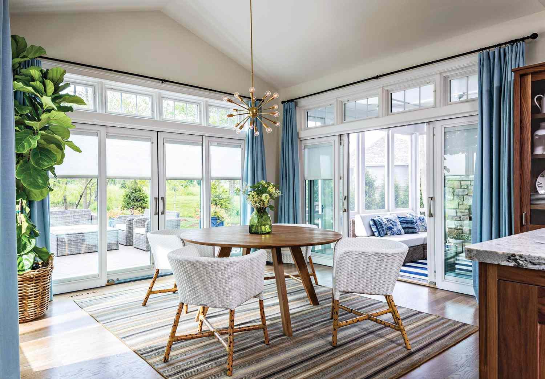 13 Stylish Window Treatment Ideas For Sliding Doors Better Homes Gardens